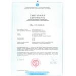 Certifikáty výrobků